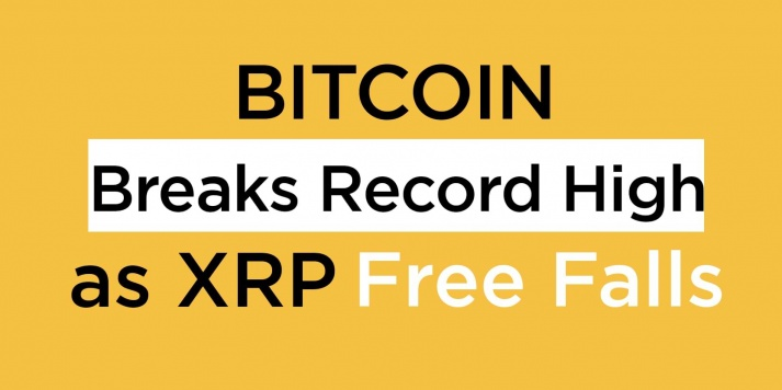 Bitcoin Breaks Record High as XRP Free Falls