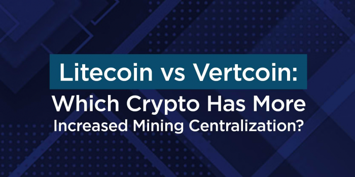 Litecoin vs Vertcoin: Which Crypto Has More Increased Mining Centralization?