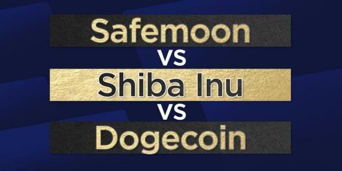 Safemoon vs. Shiba Inu vs. Dogecoin