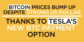 Bitcoin Prices Bump Up Despite Strong US Dollar––Thanks to Tesla's New BTC Payment Option