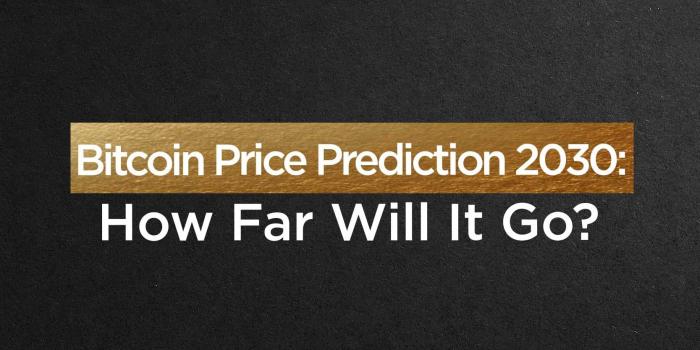 Bitcoin Price Prediction 2030: How Far Will It Go?
